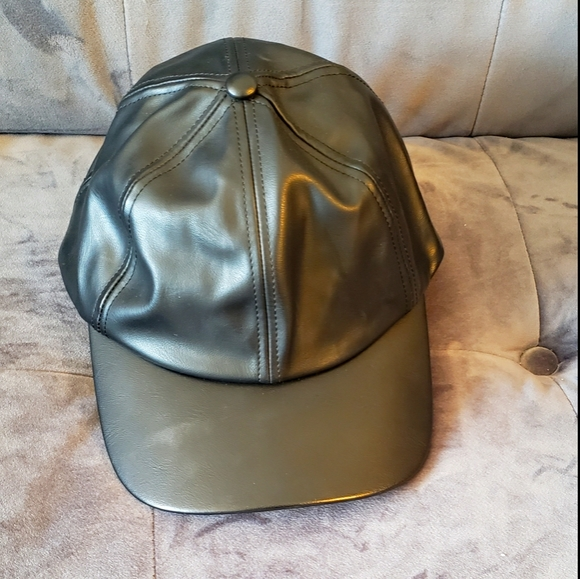 Imitation Leather Ball Cap